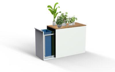 Stijlvolle (stads)tuin dankzij je design afvalbak van Kujp