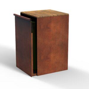 KUJP cortenstaal - Mini met hout