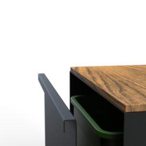 KUJP - Standaard gelakt met hout - Open langs de lange zijde